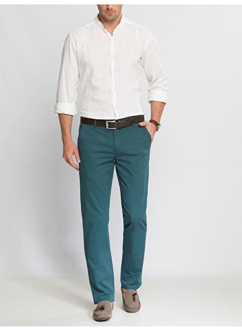 LC Waikiki Likralı Chino Pantolon Pantolon Yeşil